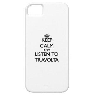 Guarde la calma y escuche Travolta iPhone 5 Case-Mate Carcasa