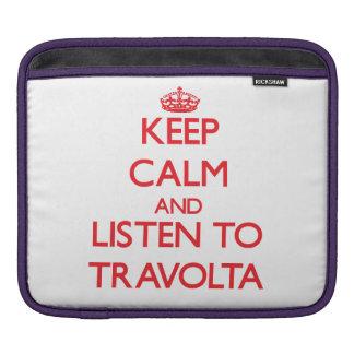 Guarde la calma y escuche Travolta Manga De iPad