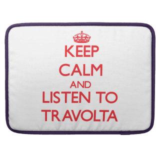 Guarde la calma y escuche Travolta Funda Macbook Pro