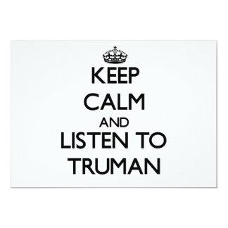 Guarde la calma y escuche Truman Anuncio Personalizado