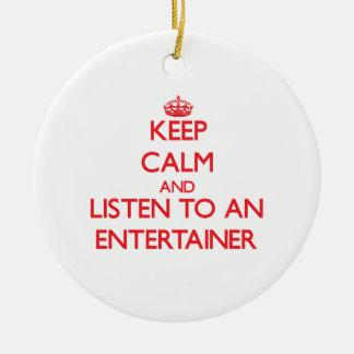 Guarde la calma y escuche un actor ornamentos para reyes magos