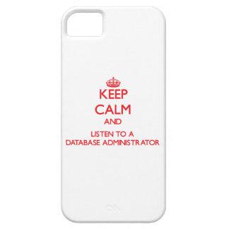 Guarde la calma y escuche un administrador de base iPhone 5 coberturas