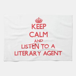 Guarde la calma y escuche un agente literario toallas