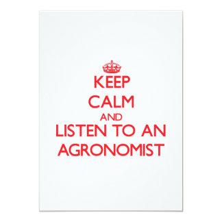 Guarde la calma y escuche un agrónomo comunicado