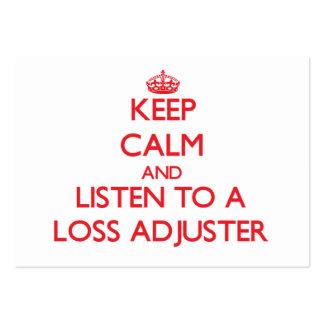 Guarde la calma y escuche un ajustador de pérdida tarjeta de visita