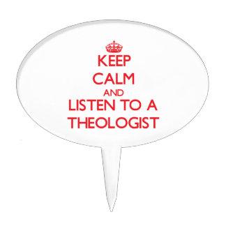 Guarde la calma y escuche un aologist decoraciones para tartas
