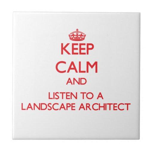 Guarde la calma y escuche un arquitecto paisajista teja  ceramica