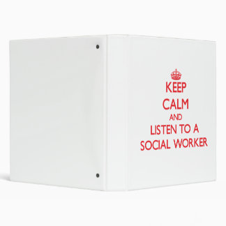 Guarde la calma y escuche un asistente social