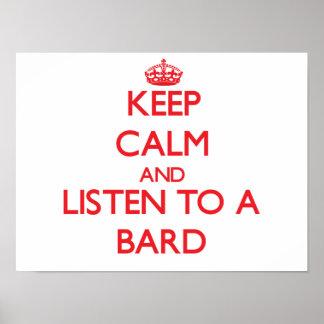 Guarde la calma y escuche un bardo impresiones