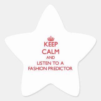Guarde la calma y escuche un calculador de la moda calcomanía forma de estrella personalizada