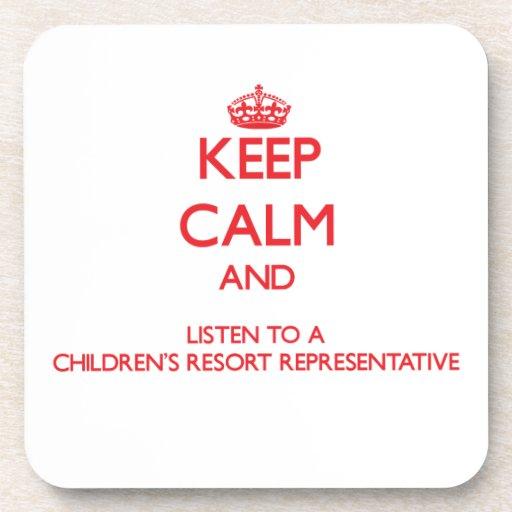 Guarde la calma y escuche un centro turístico Repr Posavasos