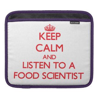 Guarde la calma y escuche un científico de la comi fundas para iPads