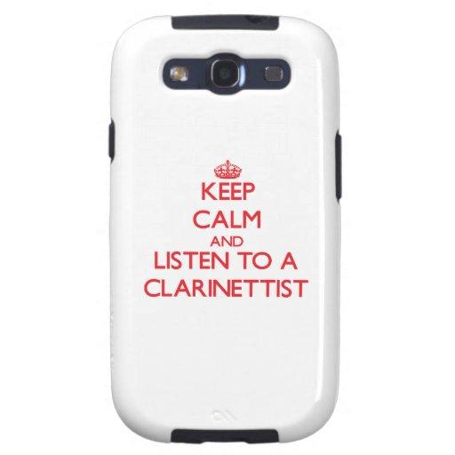 Guarde la calma y escuche un clarinetista samsung galaxy SIII funda