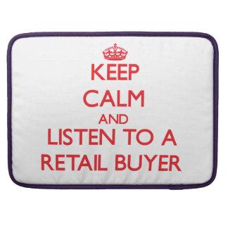 Guarde la calma y escuche un comprador al por meno funda para macbooks