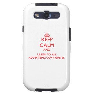 Guarde la calma y escuche un Copywriter de la publ Galaxy S3 Cárcasas