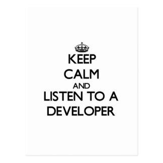 Guarde la calma y escuche un desarrollador postal