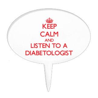 Guarde la calma y escuche un Diabetologist Decoración De Tarta