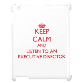 Guarde la calma y escuche un director ejecutivo