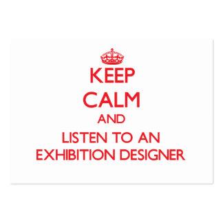 Guarde la calma y escuche un diseñador de la expos plantilla de tarjeta personal