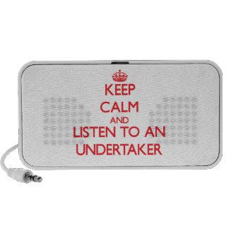 Guarde la calma y escuche un empresario de pompas  mini altavoces
