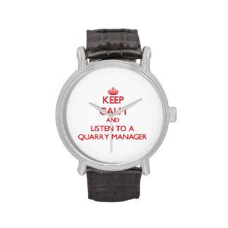 Guarde la calma y escuche un encargado de la mina relojes de pulsera