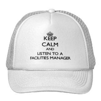 Guarde la calma y escuche un encargado de las inst gorra