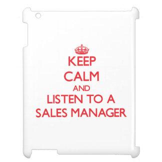 Guarde la calma y escuche un encargado de ventas
