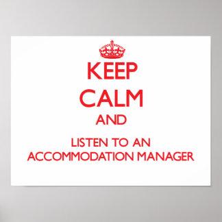 Guarde la calma y escuche un encargado del alojami impresiones