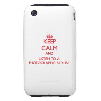 Guarde la calma y escuche un estilista fotográfico tough iPhone 3 carcasas