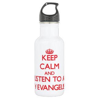 Guarde la calma y escuche un evangelista de la TV