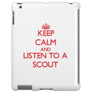 Guarde la calma y escuche un explorador