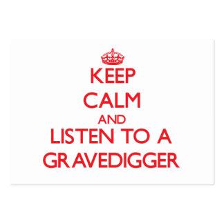 Guarde la calma y escuche un Gravedigger Plantillas De Tarjetas De Visita