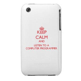 Guarde la calma y escuche un informático iPhone 3 cárcasas