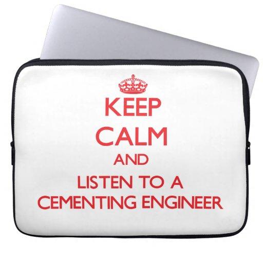 Guarde la calma y escuche un ingeniero de cementac mangas portátiles