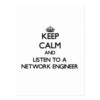 Guarde la calma y escuche un ingeniero de la red postal