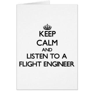 Guarde la calma y escuche un ingeniero de vuelo tarjetas
