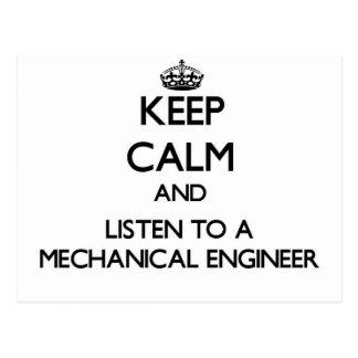 Guarde la calma y escuche un ingeniero industrial postales