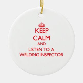 Guarde la calma y escuche un inspector de la solda ornamento de reyes magos