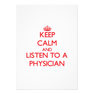 Guarde la calma y escuche un médico comunicado