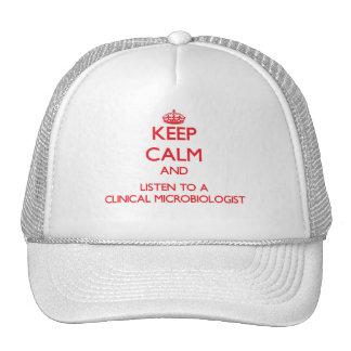 Guarde la calma y escuche un microbiólogo clínico gorras de camionero