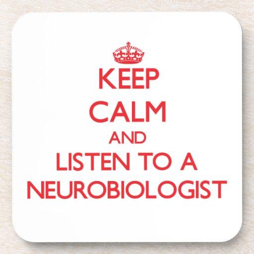 Guarde la calma y escuche un neurobiólogo posavaso