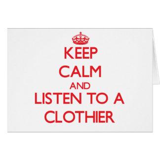 Guarde la calma y escuche un panero tarjetón