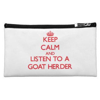 Guarde la calma y escuche un pastor de la cabra