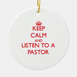 Guarde la calma y escuche un pastor ornamento de reyes magos