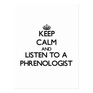 Guarde la calma y escuche un Phrenologist Postal