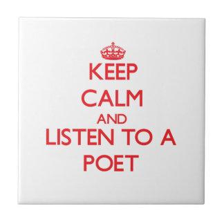 Guarde la calma y escuche un poeta azulejos ceramicos