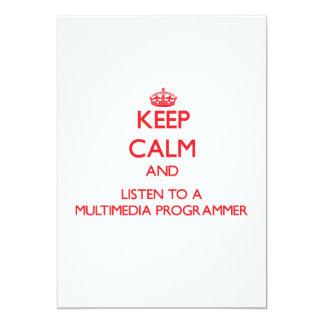 Guarde la calma y escuche un programador de las comunicado personal