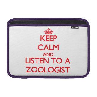 Guarde la calma y escuche un zoologista fundas macbook air
