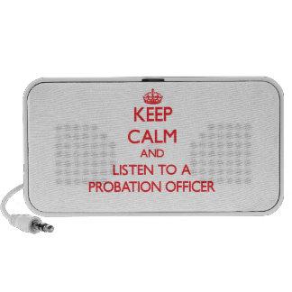 Guarde la calma y escuche una agencia de libertad  iPod altavoz