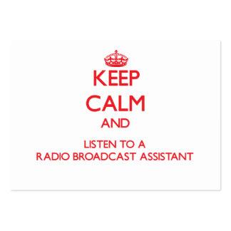 Guarde la calma y escuche una emisión de radio Ass Plantilla De Tarjeta De Negocio